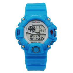 Maxxe Unisex Blue Rubber Strap Watch MXMR-208L-5 image here