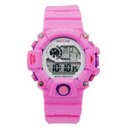 Maxxe Unisex Pink Rubber Strap Watch MXMR-208L-6 image here