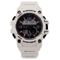 MAXXE Unisex White Rubber Strap Watch MXMR-209L-1 image here
