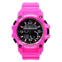 MAXXE Unisex Pink Rubber Strap Watch MXMR-209L-2 image here