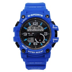 MAXXE Unisex Blue Rubber Strap Watch MXMR-209L-5 image here