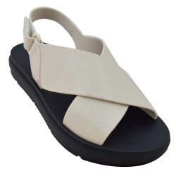 Talk Sand Plat Fem (Black Off White) image here