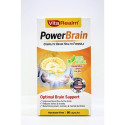 Vitarealm Power Brain Health Formula Vitamins Supplement image here