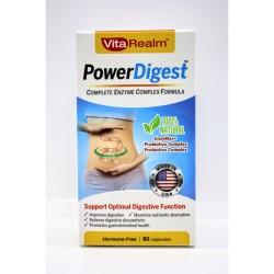 Vitarealm Power Digest Enzyme Complex Formula Vitamins Supplement image here
