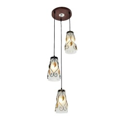 D2090/3 GLASS HANGING LAMP image here