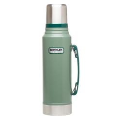 Classic Vacuum Bottle 1.1QT / 1L - Hammertone Green image here