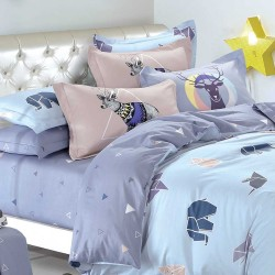 Double Size 3 in 1 Printed Beddings Origami image here