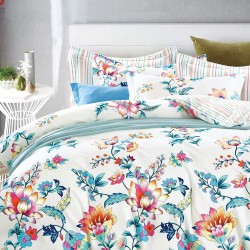 Double size 3 in 1 Bed sheet Floral image here