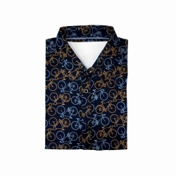 Alph Printed Polo Shirt navy blue image here