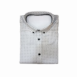 Amado Printed Polo Shirt White image here