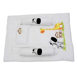 4 in 1 Bolster Pillows and Comforter Zoo image here