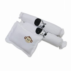 3 in 1 set Bolster Pillows with filler Zoo plain image here