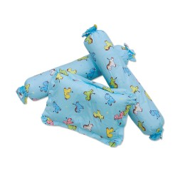 3 in 1 set Bolster Pillows with filler blue animal image here
