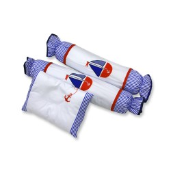 3 in 1 set pillows And Bolster with filler sailboat image here