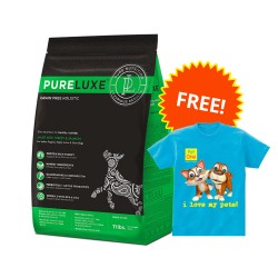 PureLuxe, Elite Nutrition for Healthy Activity (Puppy  & Highly Active Dogs)  + Pet One Shirt,PetOne 19 image here