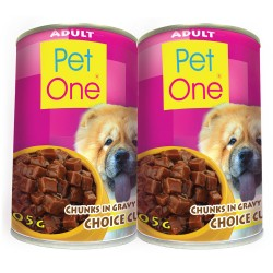 Pet One,Adult Wet Can x 2,PetOne 6 image here