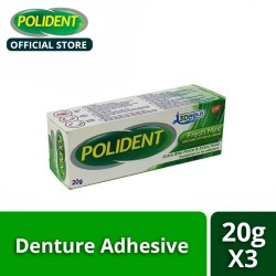 Polident 3D Hold Fresh Mint Denture Adhesive Cream 20g  (Set of 3),239371 image here