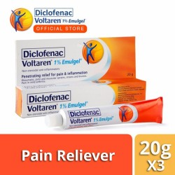 Voltaren Pain Reliever 1% Emulgel 20g for Muscle, Back, Body Pain (Set of 3) image here