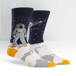 Sock it to me,One Giant Leap Men's Crew Socks,blue,MEF0114 image here