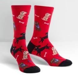 Sock it to me,No Bones Women's Crew Socks,red,W0104 image here