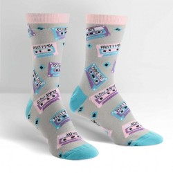 Sock it to me,Mixtapes Women's Crew Socks,gray,W0101 image here