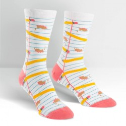 Sock it to me,Pencil me In Women's Crew Socks,white,W0092 image here