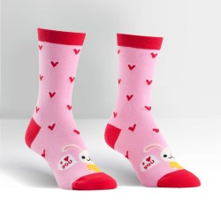 Sock it to me,Love Bunny Women's Crew Socks,pink,W0042 image here