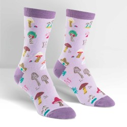 Sock it to me,Fun Guys Women's Crew Socks,lavander,W0089 image here