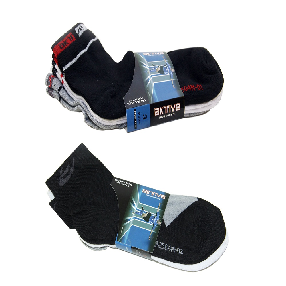 Aktive Sports Socks Bundle of 2 (2A) image here