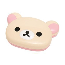 Korilakkuma Face-Shaped Bento Lunch Box image here