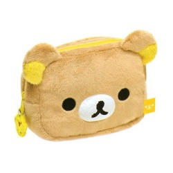 "RILAKKUMA, PLUSHY 5 1/2"" MULTI-USE POUCH: RELAX BEAR, Brown, CS49401 image here"