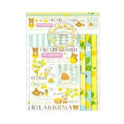 Rilakkuma, Lemon Quad Letter Set, LH51301 image here