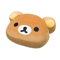 Rilakkuma, Face Soft Plush Pillow Cushion (Size L), brown, MP80001 image here