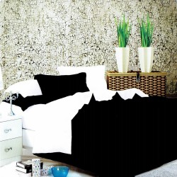 Beverly's Set of 4 Bedsheet BlackWhite-Double image here