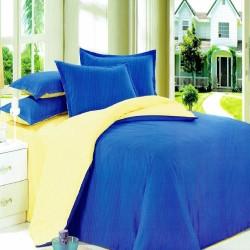 Beverly's Set of 4 Bedsheet DarkBlueYellow-King image here
