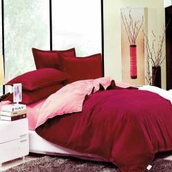 Beverly's Set of 4 Bedsheet BurgundyPink-Double image here