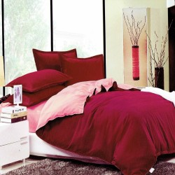 Beverly's Set of 4 Bedsheet BurgundyPink-Queen image here