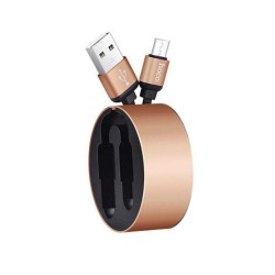 J530-Hoco Resilient Collectable Micro Charging Cable(U23)-Gold image here