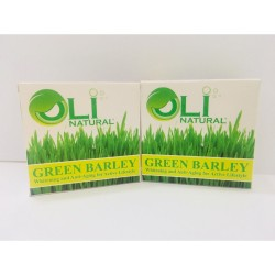 OLI NATURAL GREEN BARLEY FACE & BODY SOAP SET C,Oli Natural Green Barley Soap image here