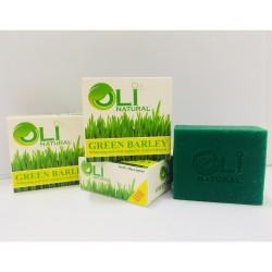 OLI NATURAL GREEN BARLEY FACE & BODY SOAP image here