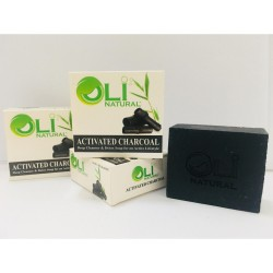OLI NATURAL ACTIVATED CHARCOAL FACE & BODY SOAP,Oli Natural 3 Activated Charcoal image here