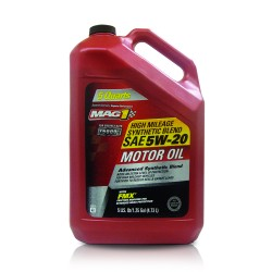 MAG 1 5W20 High Mileage API SN Synthetic Blend Oil for Gasoline Engines 5qt (4.731L) PN#66734 image here