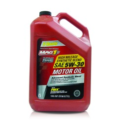MAG 1 5W30 High Mileage API SN Synthetic Blend Oil for Gasoline Engines 5qt (4.731L) PN#66732 image here