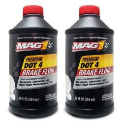 MAG 1 DOT-4 Premium Brake Fluid 12oz (354ml) PN 126 (Pack of 2 bottles) image here
