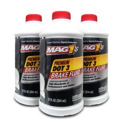 MAG 1 DOT-3 Premium Brake Fluid 12oz (354ml) PN 122 (Pack of 3 bottles) image here