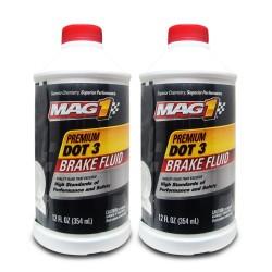 MAG 1 DOT-3 Premium Brake Fluid 12oz (354ml) PN122 (Pack of 2 bottles) image here