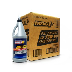 MAG 1 75W90 Full Synthetic GL-5 Gear Oil 1qt (946ml), 1 case of 6qts PN#62378 image here