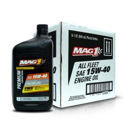 MAG 1 15W40 Heavy Duty API CK-4/SN Engine Oil for Gasoline and Diesel Engines 1qt (946ml), 1 case of 6 qts PN#61658 image here