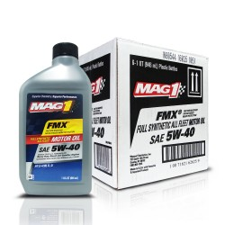 MAG 1 5W40 All Fleet API CJ-4/SN Full Synthetic Oil for Gasoline and Diesel Engines (Heavy Duty) 1qt (946ml), 1 case of 6 qts PN#62625 image here