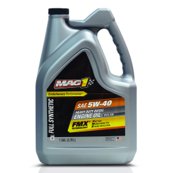 MAG 1 5W40 All Fleet API CK-4/SN Full Synthetic Oil for Gasoline and Diesel Engines (Heavy Duty) 4L PN#62627 image here